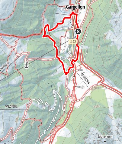 Karte / Gargellner Dorfspaziergang