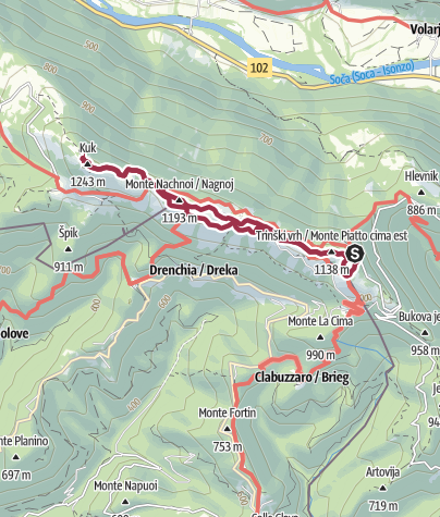 Map / Mt. Kolovrat, a magnificent panoramic hill above the Soča Valley