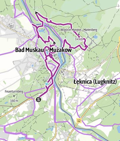 Karte / Bad Muskau, Fürst von Pückler's Park