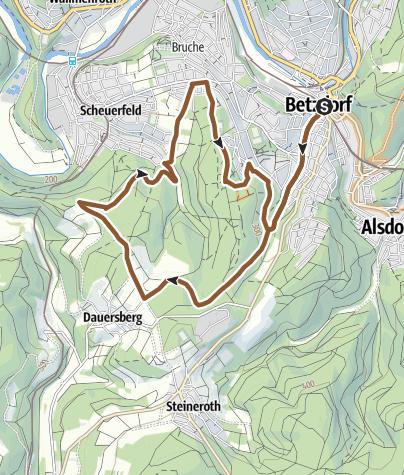 Karte / Mountainbikenetz Altenkirchen  - Scheuerberg-Schleife (E)