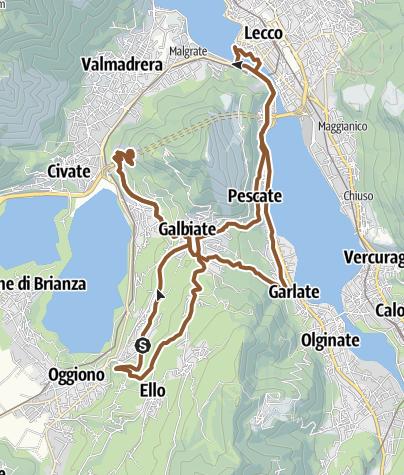 Cartina / Sopra i tre laghi a Lecco