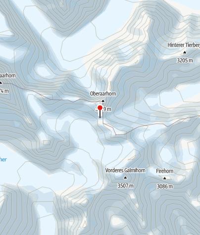 Karte / Oberaarjochhütte