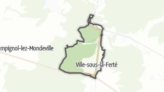 Mapa / Ville-sous-la-Ferté