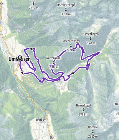 Karte / Stuiben Trail – 24K