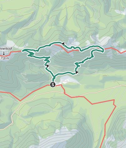 Karte / Über den Hennenkopf