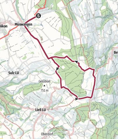 Carte / Hämikon Berg - Horben - Hämikon Berg