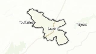 Карта / Lauzerte