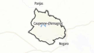 Карта / Caupenne-d'Armagnac