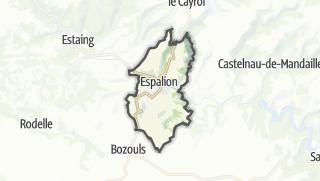 Hartă / Espalion