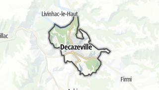 Hartă / Decazeville