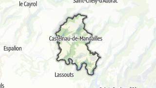 Hartă / Castelnau-de-Mandailles