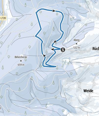 "Map / Mittlere Loipe ""Fuchshöhlen-Runde"" / Skiclub Rückershausen"