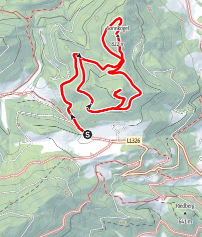Karte / Sonnkogel und Plachwitz, Leonstein, O.Ö.Voralpen