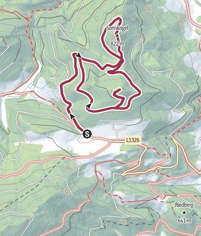 Map / Sonnkogel und Plachwitz, Leonstein, O.Ö.Voralpen