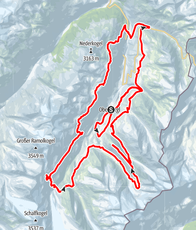 Karte / Gletscher Ultra Trail