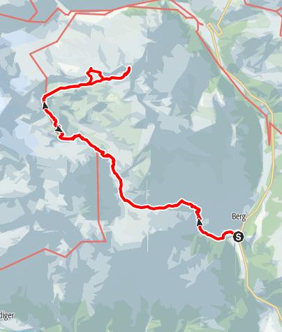 Karte / Wildenkogel 3021m und Äußerer Knorrkogel 2920m aus dem Frosnitztal