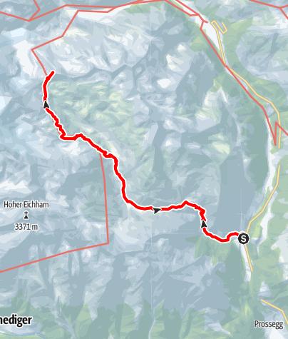 Karte / Innerer Knorrkogel 2882m aus dem Frosnitztal