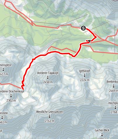 Map / Zustieg Coburger Hütte von der Ehrwalder Alm
