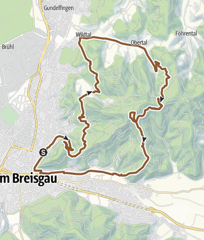 Map / MTB-Trail-Tour Freiburg - Wildtal - Rosskopf - Borderline