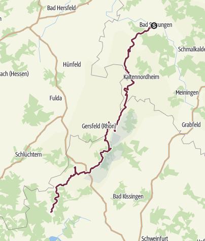 Karte / Rhön-Höhen-Weg