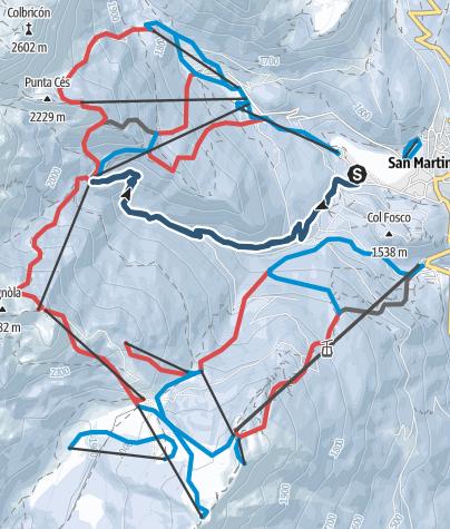 Cartina / Scialpinismo Malga Valcigolera