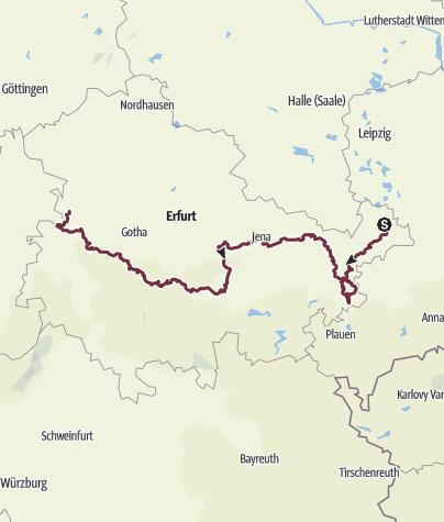 Karte / Thüringenweg