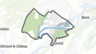 Mapa / Avanne-Aveney
