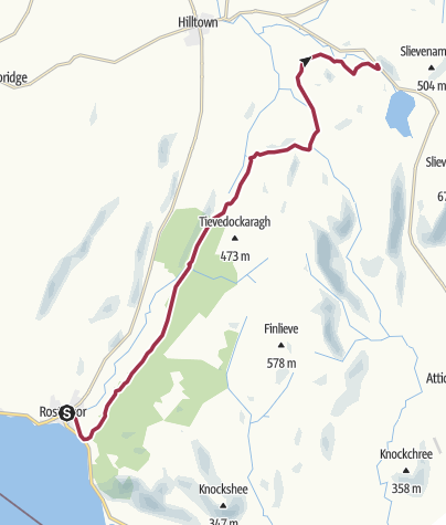 Map / Rostrevor to Mourne Mountains