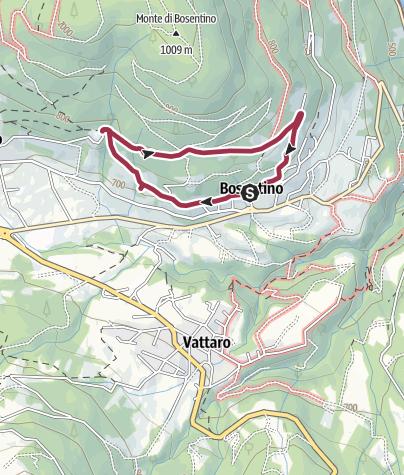 Cartina / Passeggiata alla Madonna di Feles