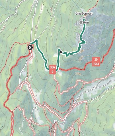 Map / Cima Durmont
