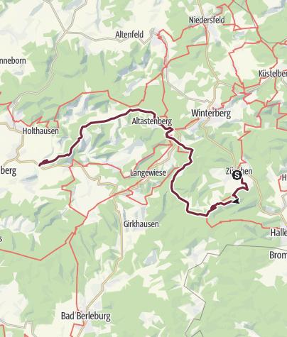 Karte / Hochsauerland Kammweg