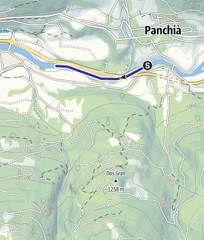 Map / Torrente Avisio ANK - Tesero