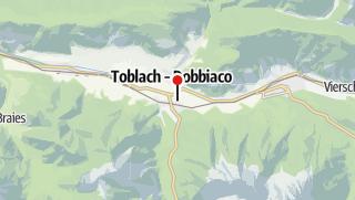 Map / Dolomite Langlaufreise von Hotel zu Hotel