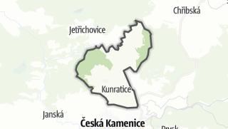 Karte / Kunratice