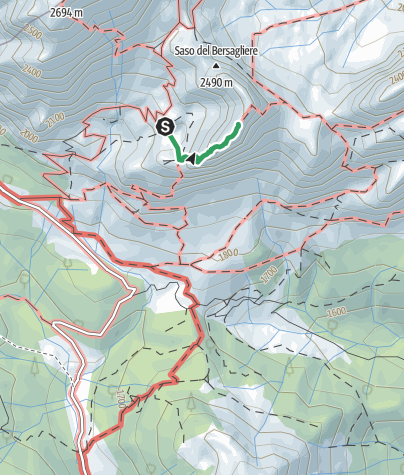 Cartina / 01 MONTE CHIADENIS per la ferrata ovest