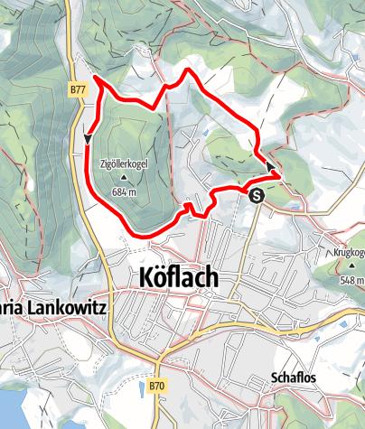 Karte / Rund um den Zigöllerkogel
