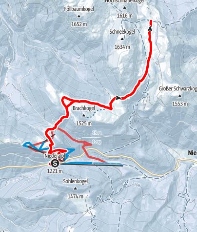 Karte / Mit Schneeschuhen am Mariazellerweg  im Naturpark Mürzer Oberland