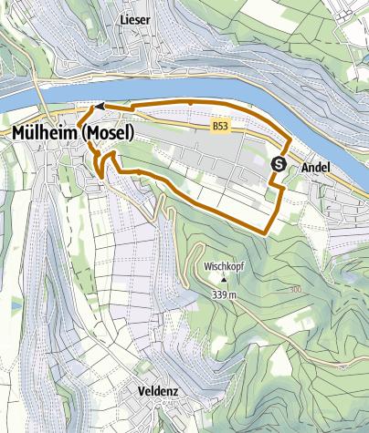 Karte / Andel-Mülheim - Nordic-Walking-Route
