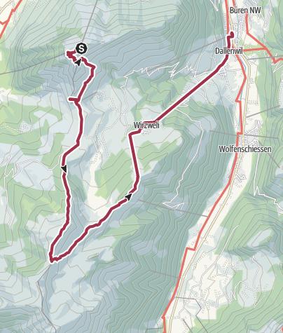 Map / Southwards along the ridge