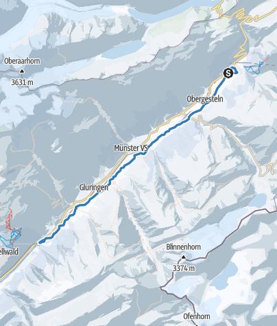 Map / Rottenloipe Oberwald - Niederwald