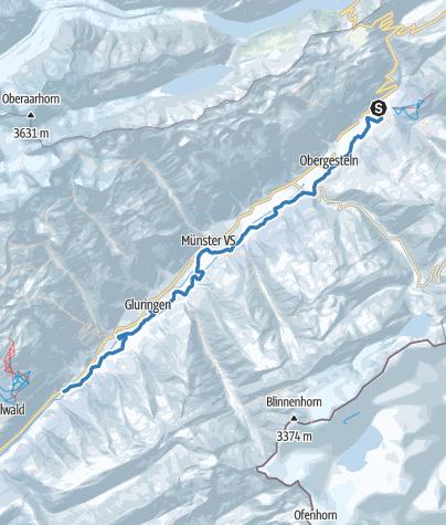 Karte / Hangloipe Oberwald - Niederwald