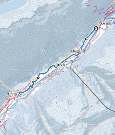 Karte / Sonnenloipe Obergesteln - Geschinen