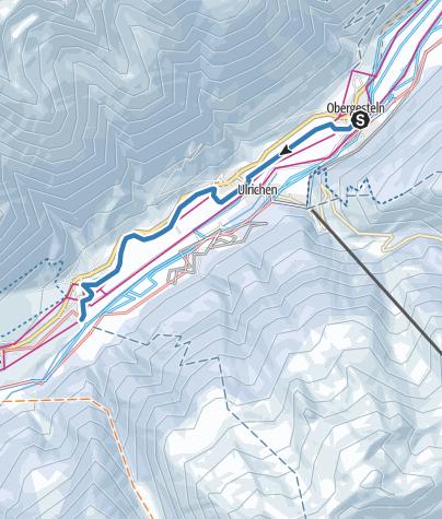 Map / Herz-Loipe Obergesteln - Geschinen