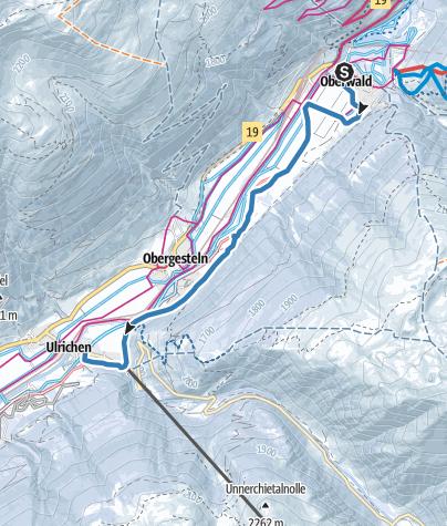 Karte / Trainingsloipe Oberwald - Obergesteln
