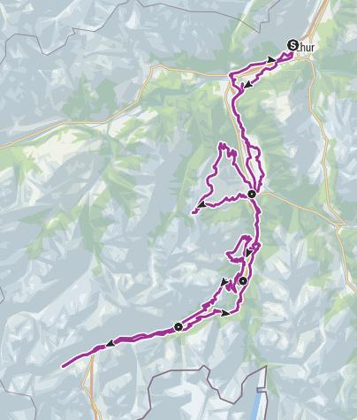 Map / Gravel Bike Route Hinterrhein