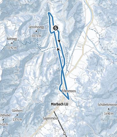 Karte / Loipe Marbach-Schärlig retour