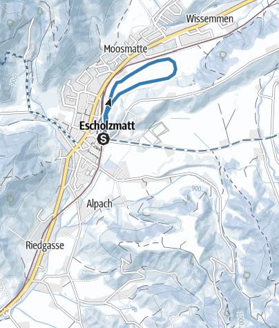 Map / Rundloipe Escholzmatt-Industrie
