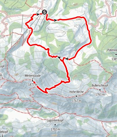 Karte / Egg | Schetteregg - Winterstaude