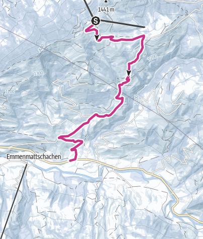 Karte / Winterwanderung Marbachegg-Bumbach