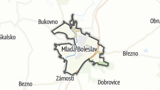 Karte / Mladá Boleslav